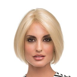 KinKy straight blonde online shopping - 2019 New brand hot selling women blonde short wigs inch synthetic hair elastic lace cap with hair net