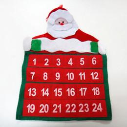 Merry Christmas Ornament Australia - Home Xmas Tree Decorations Advent Ornament Hanging Banner Christmas Wall Decorations Merry Christmas Santa Claus Calendar