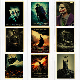 $enCountryForm.capitalKeyWord Australia - Dc Movie Super Hero Batman Canvas Painting Vintage Wall Kraft Posters Coated Wall Stickers Home Decoration Pictures Living Room