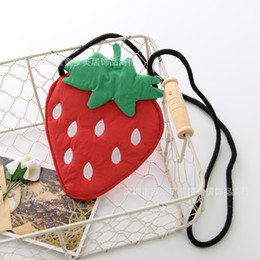 strawberry coin UK - 2019 New fashion kids coin purse lemon girls one shoulder bags coin bags pouch children Strawberry purses