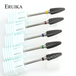 black cutters NZ - ail Art Equipment ERUIKA 26 Types Black Pink Ceramic Nail Drill Bit Rotary Burr Electic Milling Cutter for Manicure Pedicure Drill Access...