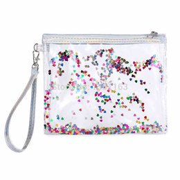 $enCountryForm.capitalKeyWord UK - Makeup Bag Clear Cosmetic Bag PVC Transparent Purse Travel Quicksand Glitter Makeup