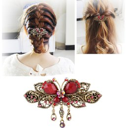 $enCountryForm.capitalKeyWord NZ - Tassel Clips for Women Girls Braided Hair Clip Styling ToolsHair Accessories Hairpins Fashion Crystal Butterflies Barrette C19010501
