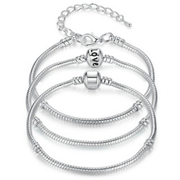 $enCountryForm.capitalKeyWord UK - New 925 Sterling Silver Snake Chain Bracelets Fit Charm European Bead Bangle Bracelet For Men Women Jewelry Gift in Bulk