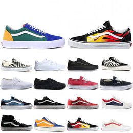 Canvas martial arts shoes online shopping - Cheap Van OFF THE WALL old skool FEAR OF GOD For men women canvas sneakers YACHT CLUB MARSHMALLOW top fashion skate casual shoes