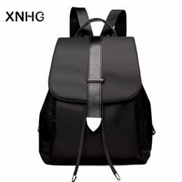 $enCountryForm.capitalKeyWord NZ - Fashion Cover Black Backpacks Korean Style Anti Theft Laptop Backpack School Bags For Teenage Girls Rucksack Sac a Dos Back Pack
