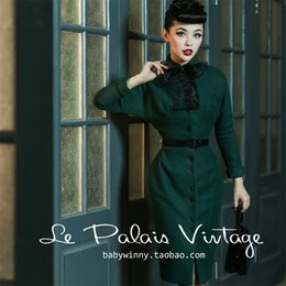 40- le palais vintage winter 50s long wiggle wool coat in green pinup  jackets plus size batwing sleeve abrigos mujer invierno 08fd751291fb