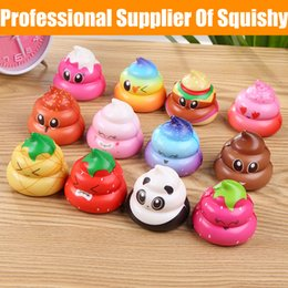 Wholesale Professional Supplier Of Squishy Cute Faeces Squishies D Print Colorful Colorful Opp Bag Packaging Kids Toys