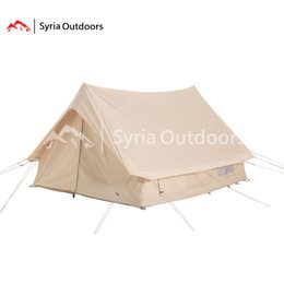 square tent NZ - Roof type ydun 9.6sq.m. herringbone canvas cotton thickened rain proof double door square camping tent