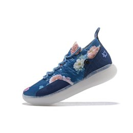 huge discount f7664 d15c8 Cheap Mens Kevin Durant KD 11 XI basketball shoes MVP Floral Black KD11  sneakers with original box for sale