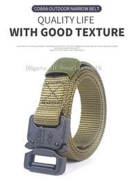 $enCountryForm.capitalKeyWord Australia - 125cm  Army Green Men Narrow Belt Mens Designer Belts Ceinture Tactical Quick Release Nylon Buckle Zinc Alloy Outdoor Sports Waist Strap