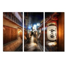 $enCountryForm.capitalKeyWord NZ - Large Contemporary Japanese wind street lanterns Landscape Abstract Painting Printed on canvas for Office Decorations Living room picture