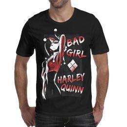 Sleeves Cards Australia - Harley Quinn DC Comics Joker Cards Man T Shirt Designed Summer Cotton Short Sleeve Shirts Macho T Shirt Vintage T Shirts for Man