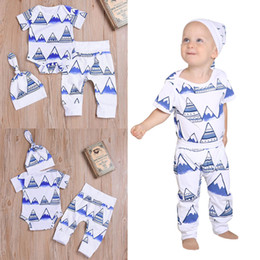 $enCountryForm.capitalKeyWord Australia - good quality 3PCS Baby Girl Clothes Newborn Toddler Baby Mountain Print Romper Clothes+Long Pants+Hat Set Outfit