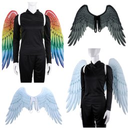 $enCountryForm.capitalKeyWord Australia - new creative Mardi Gras Big Eagle Wings Costume Non Woven Fabrics angel WingParty Decoration Adult Carnival Fancy dark wingsT2I5328