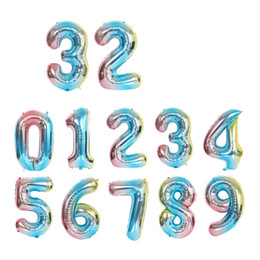 $enCountryForm.capitalKeyWord Australia - hot sale 32 inch gradient ramp number foil balloons wedding gift party aluminium numbers balloon home decoration