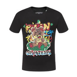 Crystals skulls online shopping - crystal skulls t shirt for mens P brand short sleeve hip hop tops tee High Quality print designer clothing Punk Summer luxury t shirt M XL