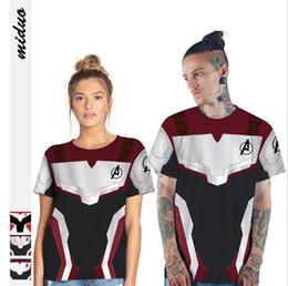 $enCountryForm.capitalKeyWord Australia - Summer 2019 new Avengers 4 quantum battle dress digital printing couples short sleeve T-shirt leisure sports fashion casual loose T