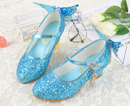 communion shoes Australia - Lovely Pink Blue White Flower Girls' Shoes Kids' Shoes Girl's Wedding Shoes Kids' Accessories SIZE 26-37 S321006