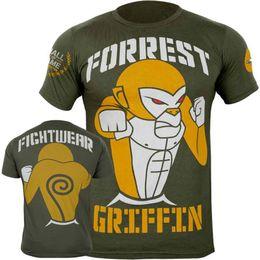 Xs mma shorts online shopping - UFC Muay Thai Sanda Short sleeved T shirt MMA Fight UFC Mixed Fighting Technique Monkey Fitness Wulin