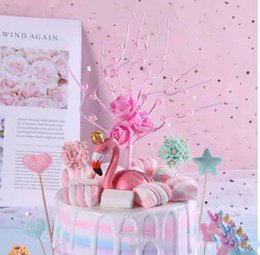 $enCountryForm.capitalKeyWord Australia - 3D Rose Pearl Tree Cake Toppers Malleable Lovely Cake Insert Novelty Cupcake Decor Party Supplies Baby Shower Birthday Wedding