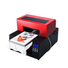 a9a1f4e53 Automatic T-shirt Flatbed Printer A3 Size Print Machine for Cotton T-Shirt  Printing Textile DTG printer dark shirt t For
