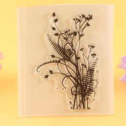 $enCountryForm.capitalKeyWord Australia - Stamps YLCS041 flowers silicone clear stamps for Scrapbooking DIY photo album cards decoration rubber stamp transparent stamp 7*9cm