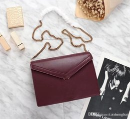 $enCountryForm.capitalKeyWord NZ - Latest synch new style, top imported leather chain bag, 100% leather, bronze hardware imported from Taiwan, one flat pocket, one fork pocket