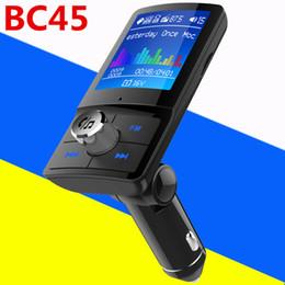 $enCountryForm.capitalKeyWord NZ - BC45 BC43 Car Kit Bluetooth Cell Phone FM Transmitter Wireless Modulator MP3 Player LCD Screen Dual USB Charger Handsfree Car Accessories