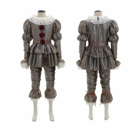 male movie costumes Australia - Mens Women Adult Child Kids Halloween Costumes Horror Movie Clown Back Pennywise Suit Halloween Clothes Cosplay Horror Ghost Tricky