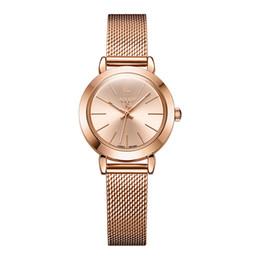 $enCountryForm.capitalKeyWord UK - Julius Ja-732 Female Women's Silver Rose Gold Tone Mesh Stainless Steel Quartz Analog Waterproof Fashion Watch Casual Wristwatch Y19062402
