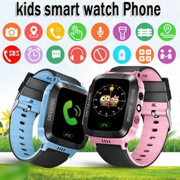 mp3 uhren für kinder großhandel-Kinder Smart Watches Telefon Schrittzähler Uhr KID watchohones GPS SIM Karte MP3 Player für Kinder Apfel Android Watchphone Kinder