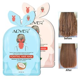 smooth soft hair UK - Hair Tail Mask Moisturizing Repair Dry Damaged Hydrating Hair Damaged Repair Dry Improve Hair Soft Smooth Shiny 6pcs