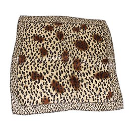 $enCountryForm.capitalKeyWord Australia - Leopard print 50*50CM Small Square Hair Scarf Women Neck Hotel Waiter Flight Attendants Business Imitate Bandana Silk Scarves