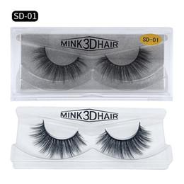 55e85733fdb Long eyeLashes free shipping online shopping - ePacket New D Mink Eyelashes  Messy Eye lash Extension