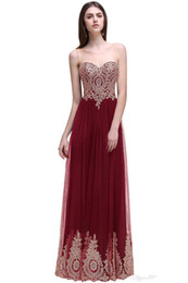 Sequins Low Back Prom Dress UK - Real Photo Burgundy A Line Evening Dress Jewel Scoop Neck Low Back Long Prom Dresses with Lace Appliques Elegant Formal Evening Gowns 2017