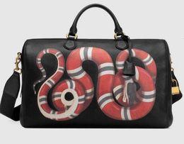 $enCountryForm.capitalKeyWord NZ - New Kingsnake print leather duffle 495476 Men Messenger Bags Shoulder Belt Bag Totes Portfolio Briefcases Duffle Luggage