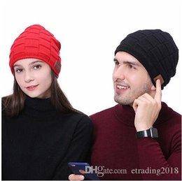 Beanies For Winter Australia - Wireless Bluetooth Earphone Sport Stereo Music Hat Beanie Hat Headset Unisex Knitted Cap Winter For Skiing Skating Walking