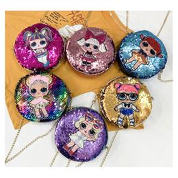 $enCountryForm.capitalKeyWord NZ - Surprise Girls Kids Handbags Girl Sequins Design 18*18cm Cartoon Storage PU Messenger Bags Backpacks Hop-pocket Christmas Gifts