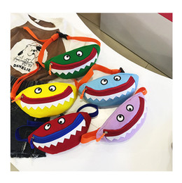 $enCountryForm.capitalKeyWord Australia - Baby Shark Fanny Pack Canvas Kids Belt Waist Bags Boys Girls Cartoon Crossbody Bag Children Coin Purse Wallet Cute Handbag Shoulder Bags Hot