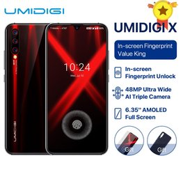 "UMIDIGI X Global Version In-screen Fingerprint 6.35"" AMOLED 48MP Triple Rear Camera 128GB NFC Helio P60 4150mAh Cellphone celula on Sale"