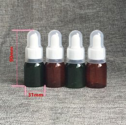 CosmetiCs dropper online shopping - ML Brown Green Plastic Essential Oil Bottles Environmental Protection Essence Bottle Empty Cosmetic Bottle