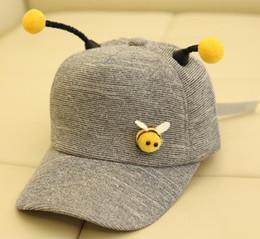 $enCountryForm.capitalKeyWord Australia - Grey New Kids'Cap Boys' And Girls'Lovely Duck Tongue Cap Korean Cartoon Bee Antenna Baseball Cap