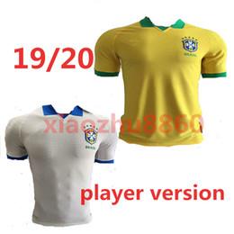 5d60b565c 19 20 Brasil Player Edition soccer jerseys Brazil Jersey 2019 2020 JESUS  COUTINHO FIRMINO MARCELO football shirt camisa Football G.JESUS