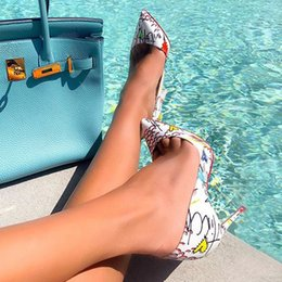 $enCountryForm.capitalKeyWord Australia - Black White Blue Patent Leather High Heels Pumps For Women Sexy Ladies Shoes Sandalia Feminina Spring Summer 120mm Women Shoes