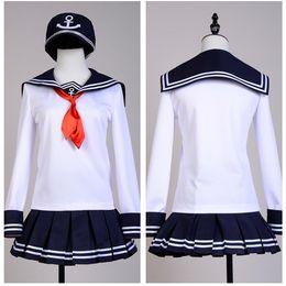 $enCountryForm.capitalKeyWord Australia - Kantai Collection Fleet Girls Akatsuki Sailor Cosplay Costume Sets Uniform Halloween Costume Girls' dress Carnival Costume