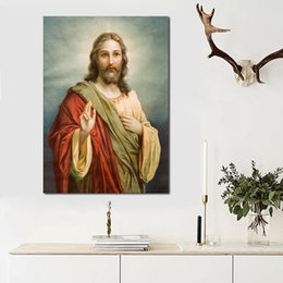 modern decorative frames Canada - 1 Pcs Modern Art Portrait Posters and Prints Wall Art Canvas Painting Jesus Christ Decorative Pictures for Living Room No Frame