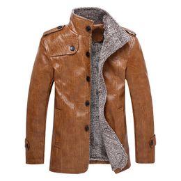 Mens Parka Leather Canada - mens fleece jackets and coats leather bomber jackets winter faux jacket men chaqueta hombre parka overcoat streetwear plus M-8XL