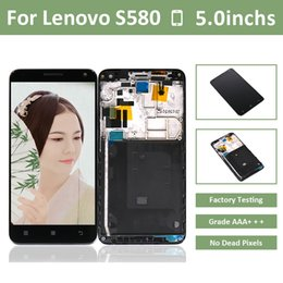 Lcd screen repair for Lenovo online shopping - 10pcs for Lenovo S580 LCD Display Touch Screen Digitizer Frame Assembly Pantalla S580 Repair by DHL EMS