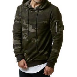 2018 Camouflage Hoodies Männer Sweatshirt Hip Hop Männlichen Hoody Reißverschluss Sweatshirt Marke Herbst Winter Herren Camo Pullover 3XL im Angebot